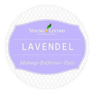 Etikette für Lavendel Makeup-Entferner-Pads zum selber machen