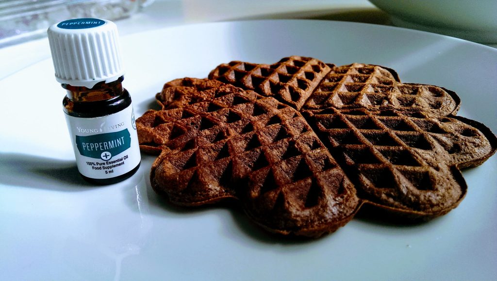 After-Eight-Waffeln mit Pfefferminz+-Öl