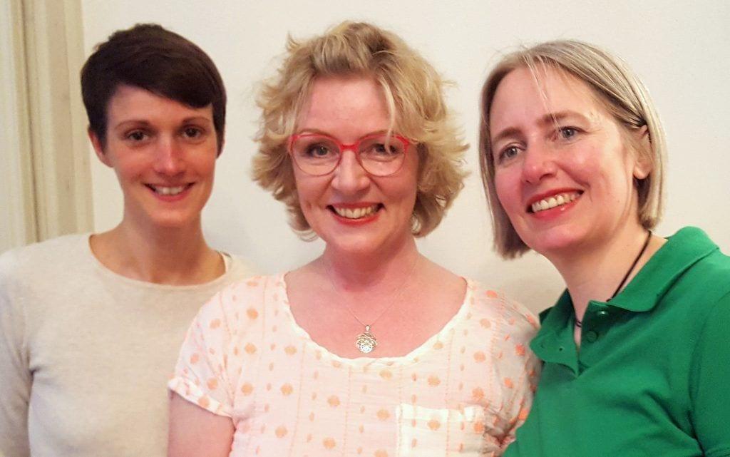 Das Kokoro-Raindrop-Team (Ilka Kass, Christina Holsten, Saskia Mestern)