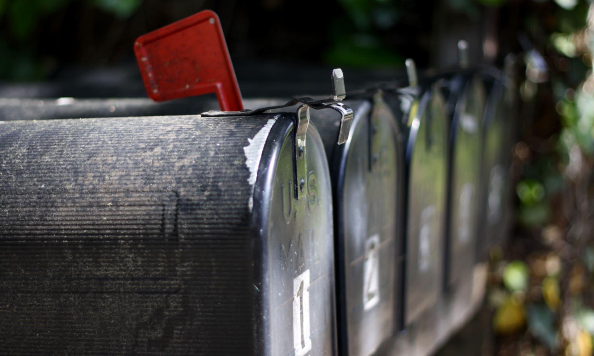 Newsletter - Bild amerikanischer Briefkästen