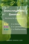 Immunsystem-Booster - Mischung für den Diffuser - mit den ätherischen Ölen Zitrone, Lavendel, Pfefferminze - lebens-essenz.com