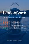 Lichtfest - Mischung für den Diffusor - mit den ätherischen Ölen Orange, Zimtrinde, Schwarzfichte