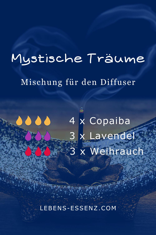 Mystische Träume - Mischung für den Diffusor - mit ätherischen Ölen Copaiba, Lavendel und Weihrauch
