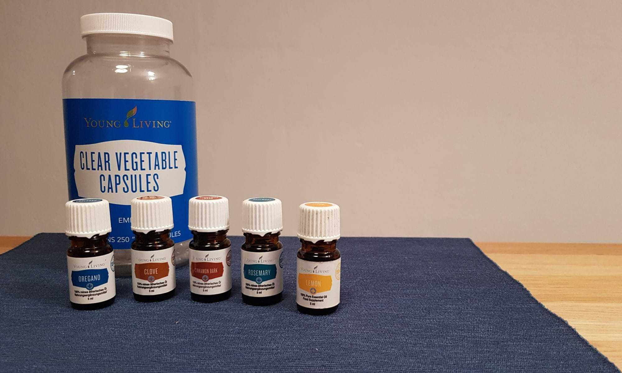 Zutaten für Kapseln zur Stärkung des Immunsystems